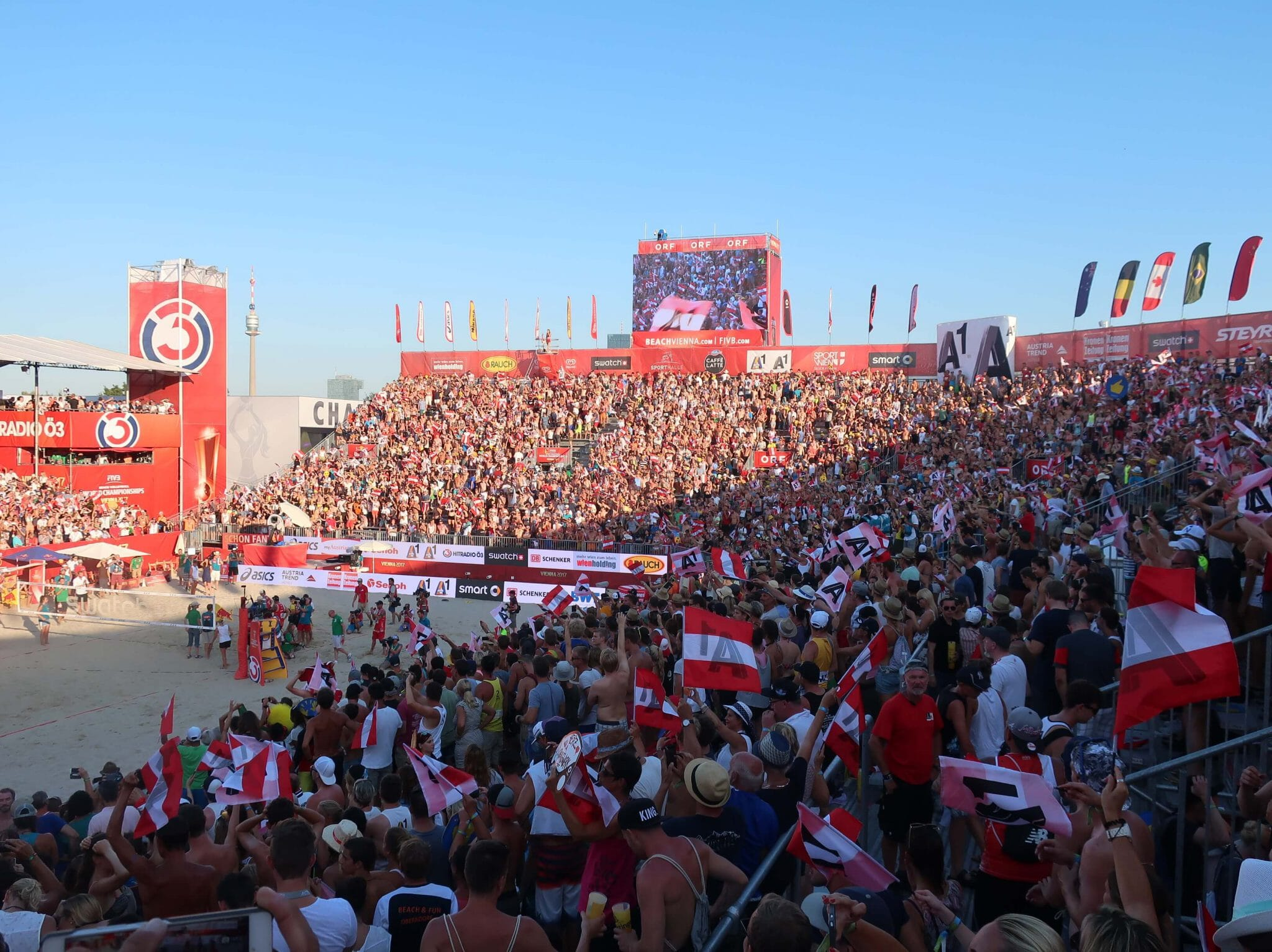 Crowd at FIVB beach volleyball world championships