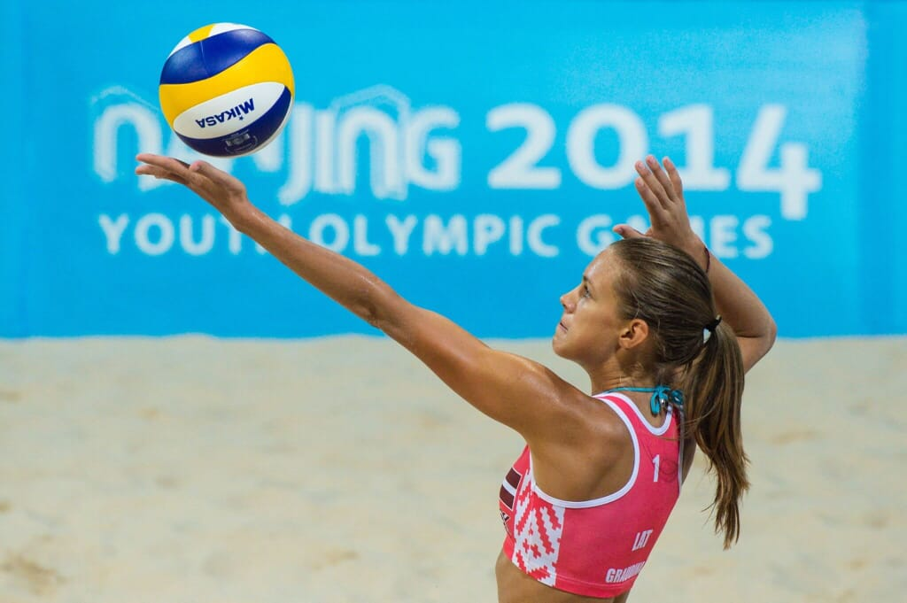 Latvian beach volleyball player Tina Graudina